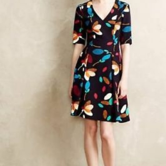 Anthropologie Dresses & Skirts - Anthropologie - Baraschi 6 Dress Navy Floral Mette